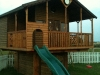 13ft x 13ft tree house inc bunk beds and drop down table