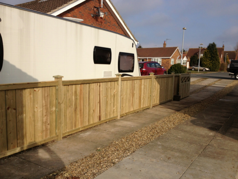 Quality solid tanalised fencing, Dividing two Driveways